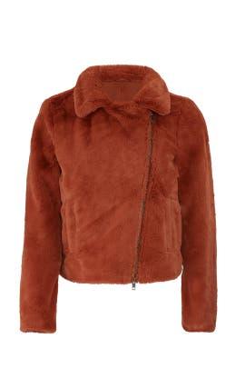 Rust Henderson Faux Fur Jacket by Rebecca Minkoff