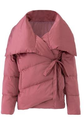 Pink Wrap Puffer Jacket by Avec Les Filles