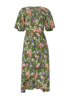 Printed Orna Wrap Dress by B Collection by Bobeau