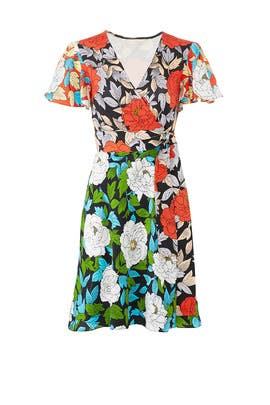 Boswell Flutter Wrap Dress by Diane von Furstenberg