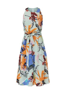 Floral Sleeveless Midi Dress by Slate & Willow