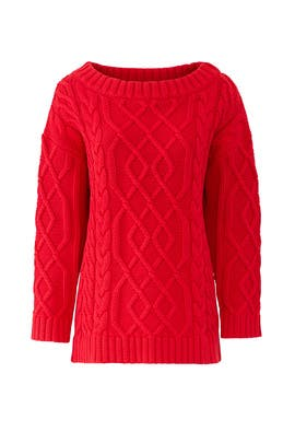 Red Ember Sweater by The Jetset Diaries