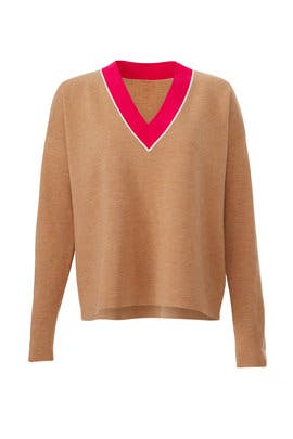 Wheat Elise Sweater by Tory Burch