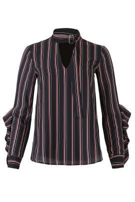 Kipling Woven Striped Blouse by Adelyn Rae