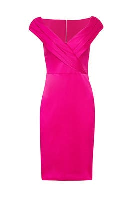 Deep Magenta Sheath by Badgley Mischka