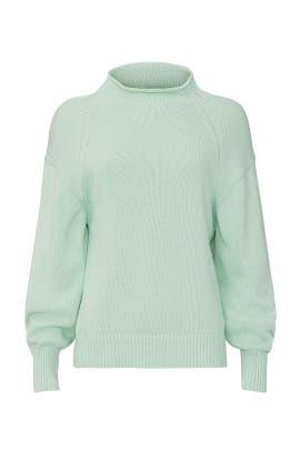 Mint Transfer Stitch Sweater by 525 America