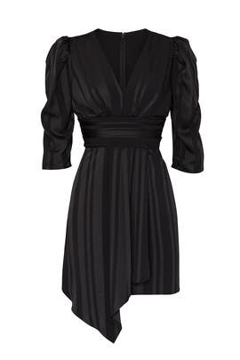 Pleated V-Neck Dress by J.O.A.