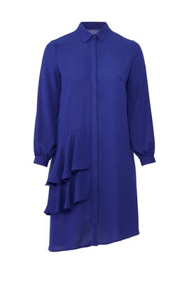 Blue Frills Shirtdress by LOST INK