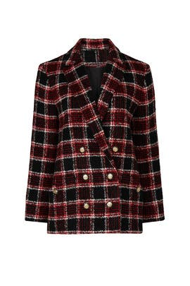 Plaid Tweed Blazer by Maje