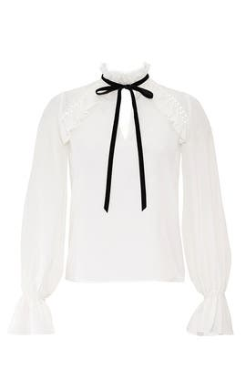 White Victorian Top by ML Monique Lhuillier