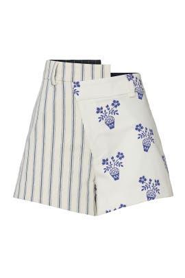 Flower Pot Striped Shorts by MONSE