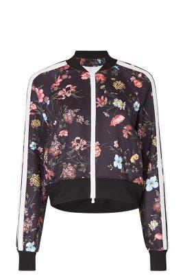 Floral Fineline Crop Track Jacket by Pam & Gela