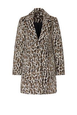 Leopard Wool Coat by Slate & Willow
