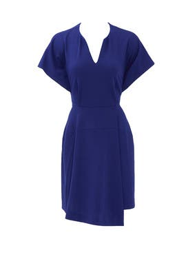 Navy Lustra Dress by Tibi