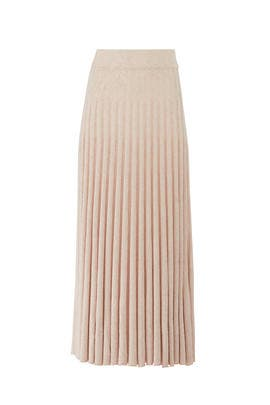 Gala Crème Pleated Skirt by CAARA