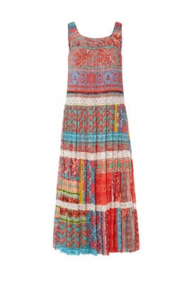 Paisley Patchwork Dress by Fuzzi