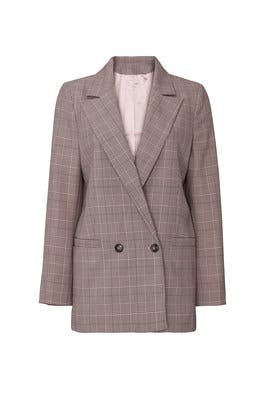 Pink Plaid Blazer by GANNI