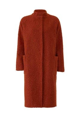 Rust Rachel Boucle Coat by Greylin