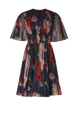 Printed Chiffon Dress by Jason Wu Collective