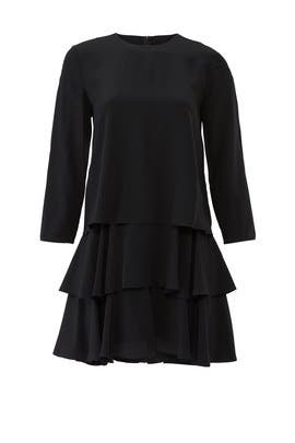 Long Sleeve Ruffle Dress by Jason Wu