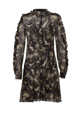 Black Sheer Birdy Dress by The Kooples