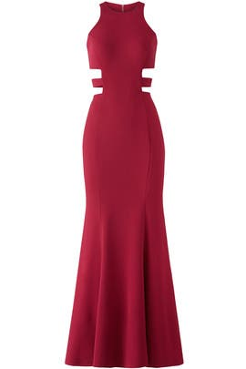 Berry Sleek Gown by LM Collection