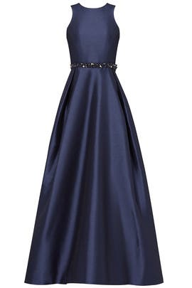 Navy Jadore Gown by ML Monique Lhuillier