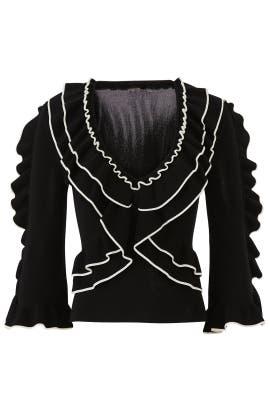 Shiva Ruffle Sweater by Ronny Kobo