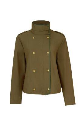Cropped Green Jacket by Scotch & Soda