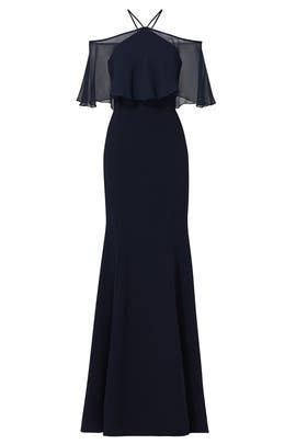 Midnight Flight Flutter Gown by Theia