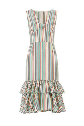 Striped Mermaid Dress by Tome