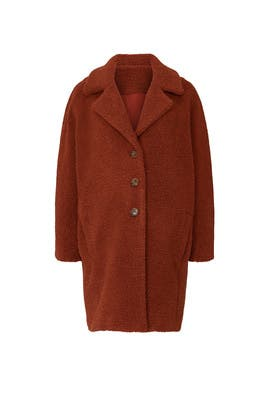 Red Teddy Maternity Coat by HATCH
