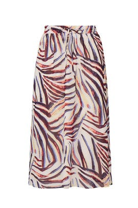 Multi Printed Midi Skirt by JUNAROSE