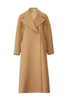 Camel Big Lapel Overcoat by Martin Grant