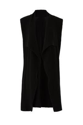 Black Long Knit Vest by Michael Stars