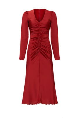 Ruched Midi Dress by NISSA