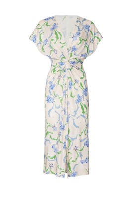 Brushstroke Floral Twist Dress by Prabal Gurung Collective