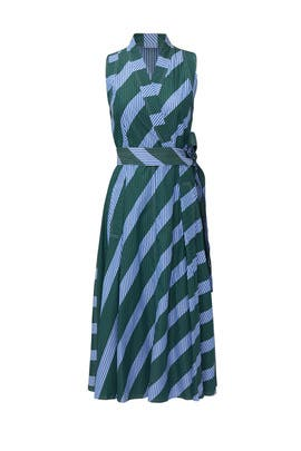 Diagonal Wrap Dress by Tory Burch