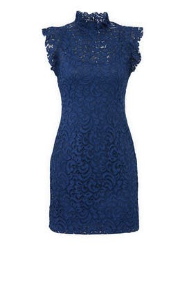 Navy Lace Sheath by Alexia Admor