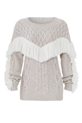 Ulla Fringe Sweater by AMUR
