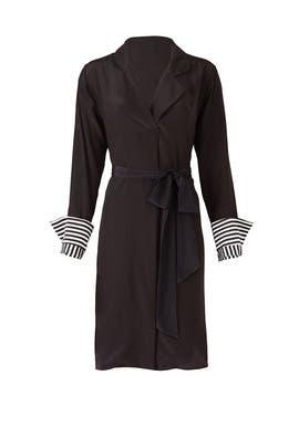 Cuff Stripe Shirt Dress by Badgley Mischka