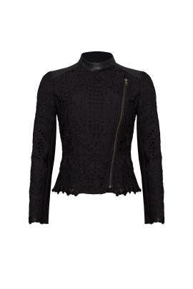 Black Lace Moto Jacket by Cut 25