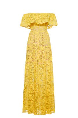 Yellow Reese Maxi by Dress The Population