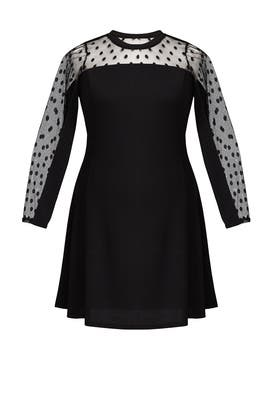 Black Dot Swing Dress by JUNAROSE