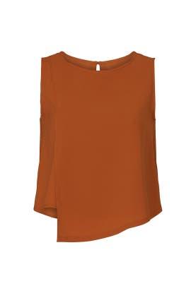 Orange Asymmetric Top by Mossi