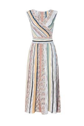 Multi Striped Faux Wrap Dress by Missoni