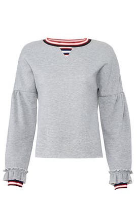 Grey Jewel Sweatshirt by Rebecca Minkoff