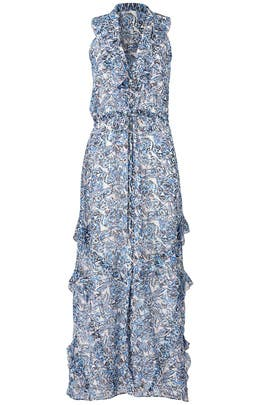 Blue Printed Lizzie Maxi Dress by SALONI