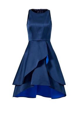 Navy Tulip Skirt Dress by Shoshanna