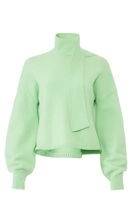 Airy Tie Collar Pullover by Tibi